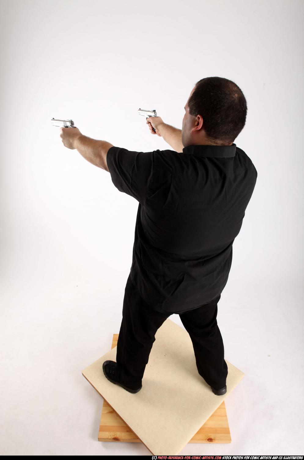 Image from Comic Artist - Furious Mobster Shooting Dual Guns - 226482012_06_mobster_dual_guns_pose4_05_a.jpg