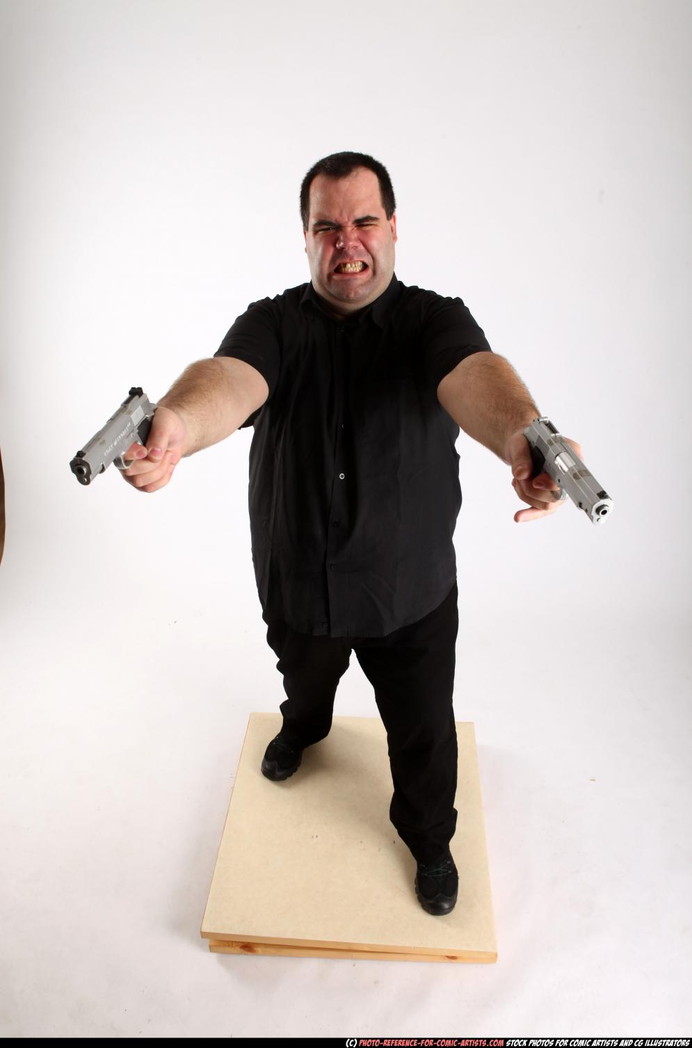 Image from Comic Artist - Furious Mobster Shooting Dual Guns - 226332012_06_mobster_dual_guns_pose4_00_a.jpg