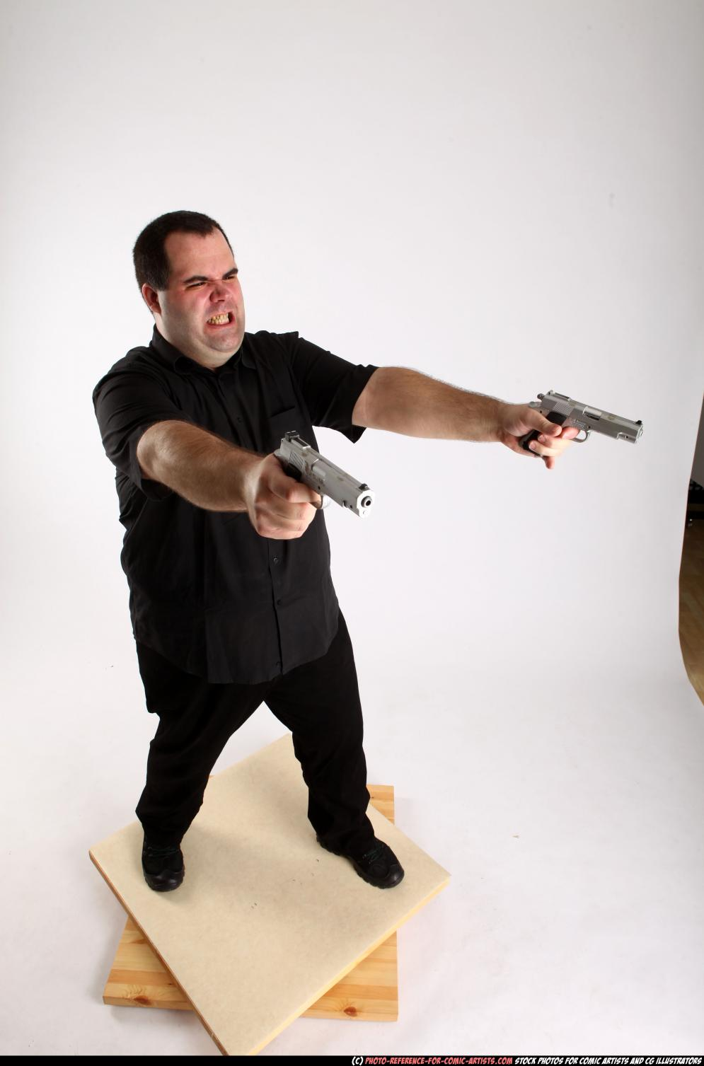 Image from Comic Artist - Furious Mobster Shooting Dual Guns - 226362012_06_mobster_dual_guns_pose4_01_a.jpg