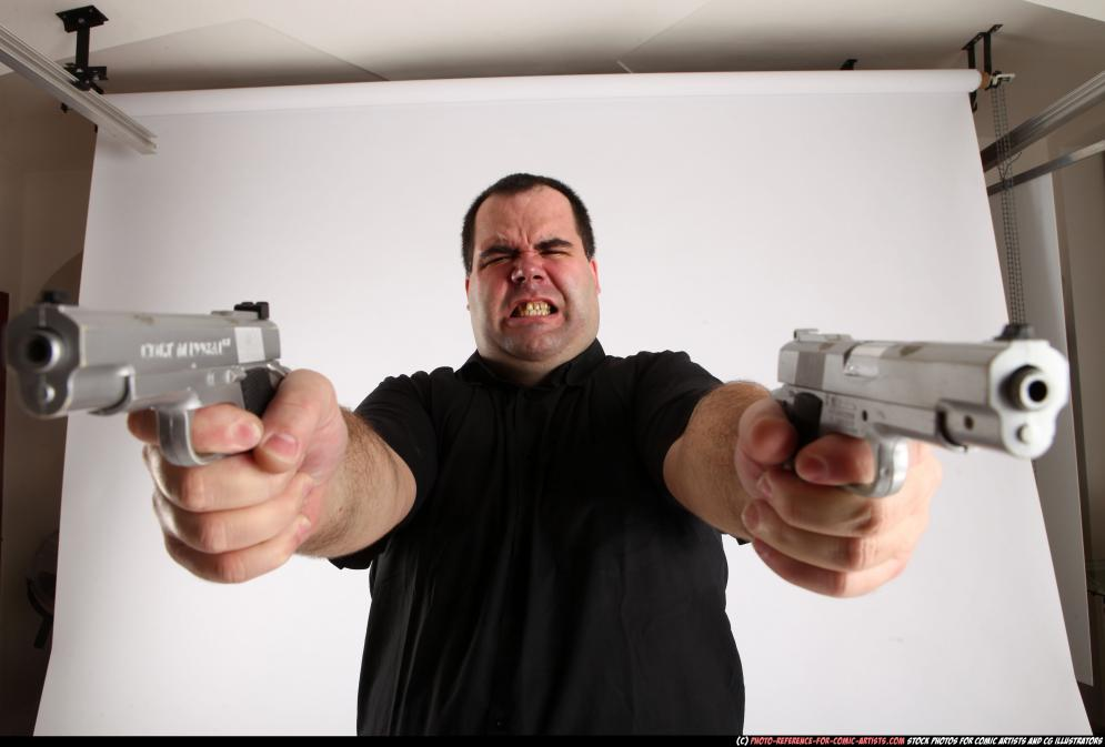 Image from Comic Artist - Furious Mobster Shooting Dual Guns - 226592012_06_mobster_dual_guns_pose4_10.jpg