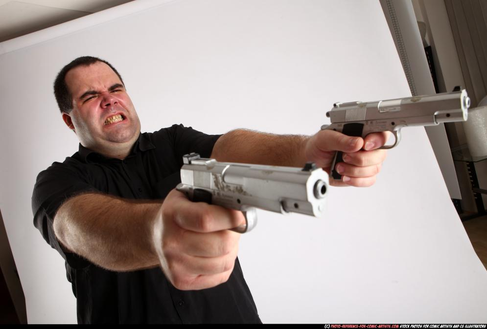 Image from Comic Artist - Furious Mobster Shooting Dual Guns - 226602012_06_mobster_dual_guns_pose4_11.jpg