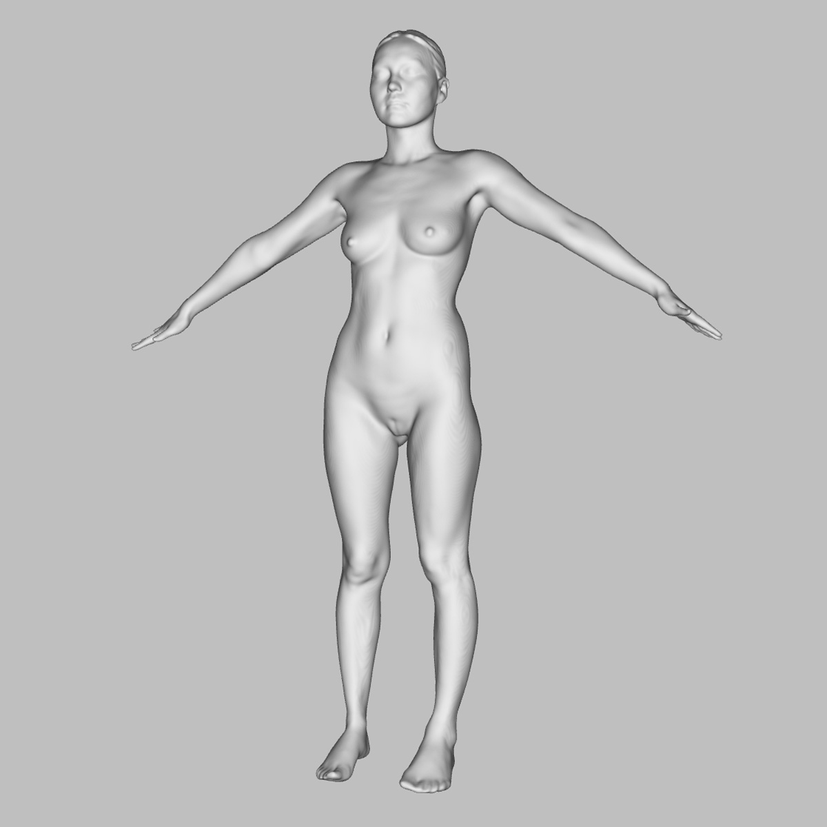 3D scan of nude vietnamese model | Anatomy References for Artists